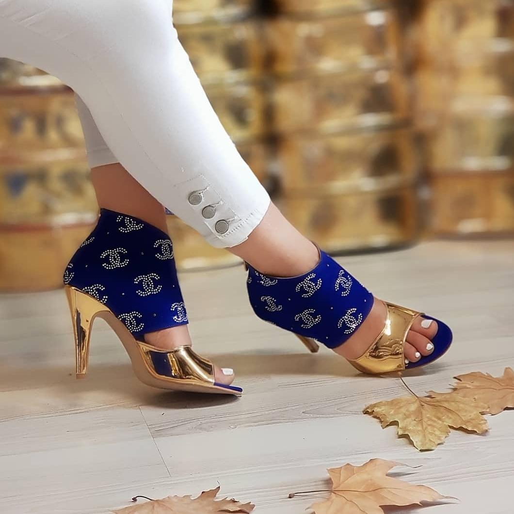 Autumn Spring High Heels Womens Boots